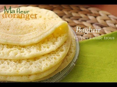 Recette de Baghrir Crêpes à mille trous Moroccan pancakes recipe