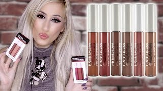 NEW! £2 Freedom Liquid Lipsticks ||| Pro Melts Naked & Stripped Collection 💋 || REVIEW + SWATCHES!