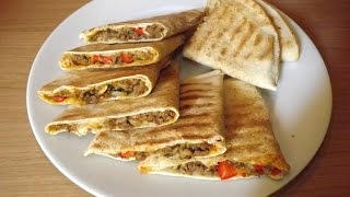 وصفات رمضان :(عرايس) خبز لبناني محشي بالكفتة  Arayess pain libanais farci