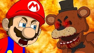 MARIO VS FREDDY - Five Nights At Freddy's Animation Parody