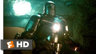 Iron Man (3/9) Movie CLIP - Cave Battle (2008) HD