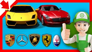 Cartoon about cars. Super cars in the garage Handy Andy - Little Smart Kids