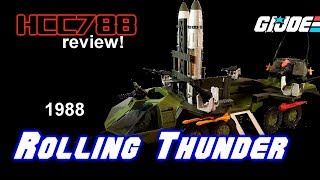 HCC788 - 1988 ROLLING THUNDER and ARMADILLO! Vintage G.I. Joe review!