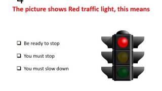 Part 1 -  RTA Theory Test 2017 Practice LMV Light Motor Vehicle Dubai UAE (English)
