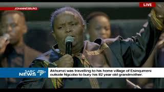 Hlengiwe Mhlaba mourns Akhumzi Jezile with moving songs