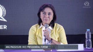 Robredo on iron-clad, Duterte-style leadership