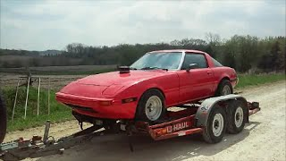 ROADKILL Ford 302/5.0 Powered Mazda RX-7 (Getting it Running PART:1)