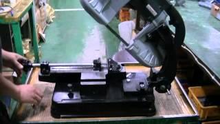 록스기계 미니 밴드쏘 R-100 사용 방법