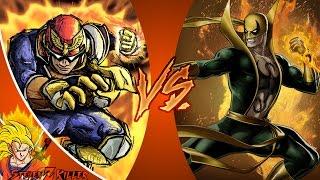 CAPTAIN FALCON vs IRON FIST! Cartoon Fight Club Episode 102 REACTION!!!