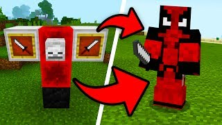How To Spawn DEADPOOL In Minecraft Pocket Edition! (Marvel Addon)
