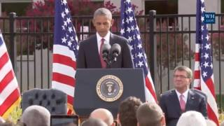 Obama Marks 15th Anniversary Of 9/11 At Pentagon - Full Speech