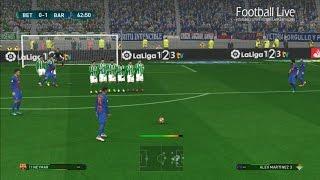 Betis vs Barcelona | Full Match and Neymar Free Kick Goal | PES 2017 Gameplay PC