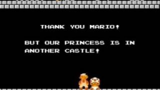 THANK YOU MARIO! BUT OUR PRINCESS IS IN ANOTHER CASTLE!