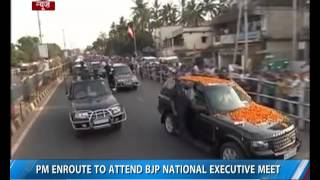 Bhubaneswar: PM enroute to attend BJP National Executive Meet