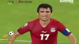جنون عصام الشوالي على فرصه مصر الضائعه امام الجزائر