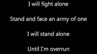 I Will Stand Alone - Firewind Lyrics