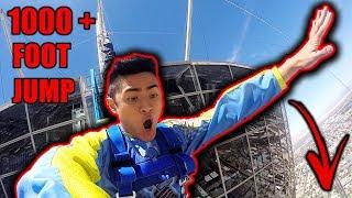 JUMPING OFF +1,000 FOOT BUILDING! (IN LAS VEGAS)
