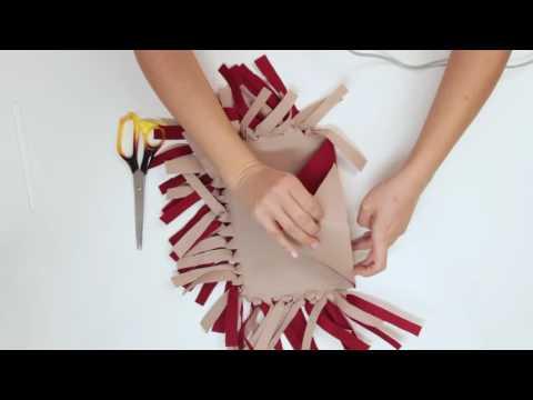Kolay ve pratik DİKİŞSİZ ÇANTA yapımı / How to make a NO SEW BAG