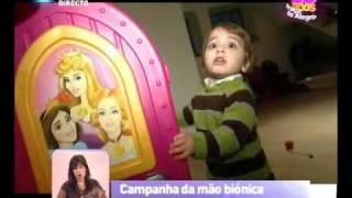 Campanha da mão biônica para o Rodrigo - Praça da Alegria