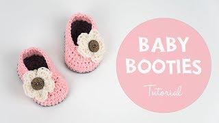 How To Crochet Cute And Easy Crochet Baby Booties | Croby Patterns