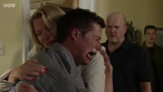 EastEnders - Ben Mitchell Almost Punches Phil Mitchell (19th July 2016)