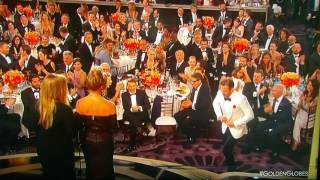 Ryan Reynolds and Andre Garfield KISS in the GOLDEN GLOBES AWARD