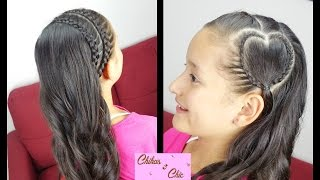 Side Braided Heart | Valentine's Day Hairstyles | Chikas Chic