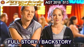 Sergey and Sasha Father Daughter  FULL STORY OR BACKSTORY America's Got Talent 2018 Audition AGT