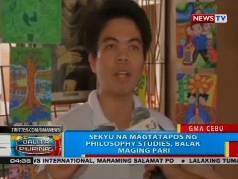 BP: Sekyu na magtatapos ng philosophy studies, balak maging pari