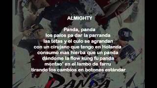 Almighty Ft Farruko, Daddy Yankee y Cosculluela - Panda Remix (Letra)