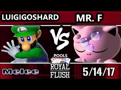 Royal Flush SSBM - LuigigoShard (Luigi) Vs. Mr. F (Jigglypuff) Smash Melee Tournament