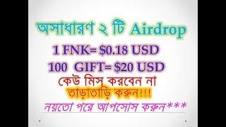 Big 2 Airdrop GIFT and FNK get $1000 usd   Airdrop 2018   bdtech24
