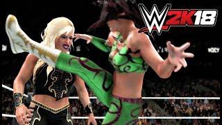 WWE 2K18 Gameplay   Peyton Royce vs Dana Brooke & Nia Jax vs Emma (2 Women