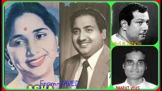 RAFI & ASHA-Film-DURGA POOJA-1954-Dekho Preet Ki Reet Nibhana Ji-[ Great Melody Duet ]