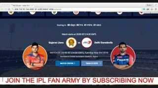 Live GUJARAT v/s DELHI Score : IPL 2016 Live Cricket Match Today : IPL Live Streaming : ipl live
