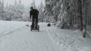 Segway on snow - with the new FMC Spikes