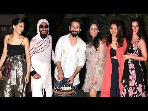 Shahid Kapoor's GRAND Birthday Party 2017 Full Video HD - Deepika,Ranveer,Katrina,Alia