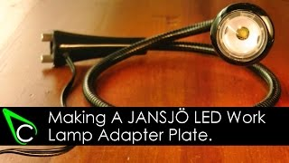 Machining a JANSJÖ LED Work Lamp Adapter Plate In The Home Machine Shop