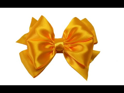 Do it yourself - How to make easy bow of satin ribbon / DIY beauty and easy