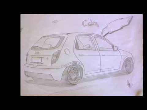 meus desenhos e a evoluçao deles carros rebaixados