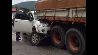 Motorista grava vídeo antes de acidente na BR-101