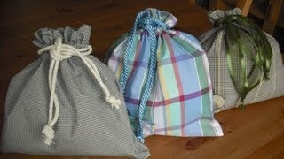 How to make a Drawstring bag...Summer holidays Kids Crafts
