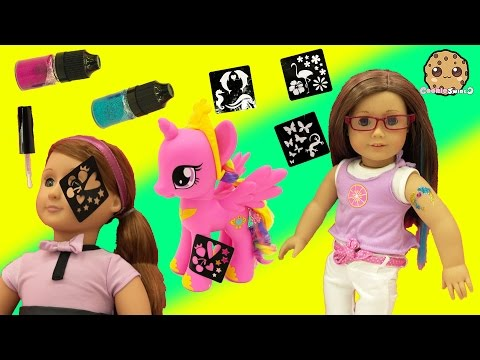 Glitter Glam Craft Tattoos On American Girl and Our Generation Doll Adriana Video