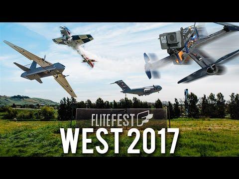 Giant Quad Crash & Biggest West Coast Fun Fly Ever Flite Fest West 17