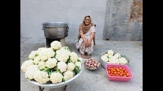 Cauliflower Masala Curry prepared by my Granny   Veg village food   Village Life   recipe