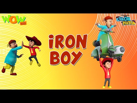 Iron Boy - Chacha Bhatija - Wowkidz - 3D Animation Cartoon for Kids  As seen on Hungama TV
