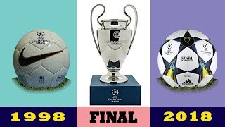 The Evolution Of The UEFA Champions League Final Ball 1998 - 2019 | History of Ball