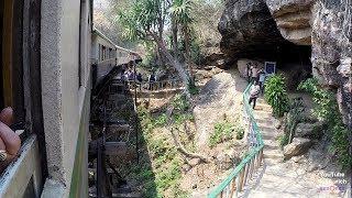 Thailand Todesbahn am River Kwai von THAMKRASAE nach NAM TOK Death Railway รถไฟมรณะ