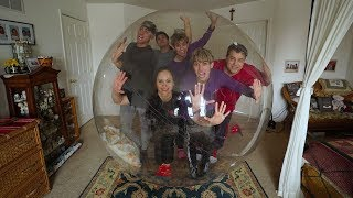 FAMILY STUCK IN GIANT BUBBLE BALL FOR 24 HOURS!