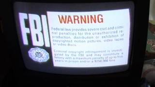 FBI Warning Screen With Whistle Sound